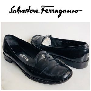 Salvatore Ferragamo Timoty Penny Loafers Size 7 B